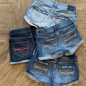 🔥Abercrombie Kids Girls denim short lot sz 9 / 10